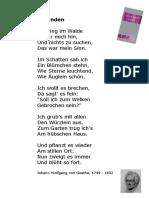 Goethe - Gefunden