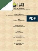 Articulo. EL DERECHO DE LA PROPIEDAD Y LA POSICIÓN INFORMAL