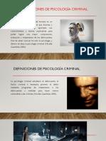 Tema 3.1 Criminología Def, y Otros Aspectos Tema 3.1