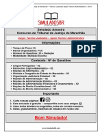 Simulado Amostra - TJMA - Técnico Judiciário - Apoio Técnico Administrativo
