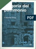 Alegoría Del Patrimonio_francoise Choay