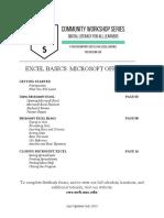 Excel Basics 2007