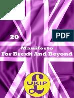 UKIP 2019 Manifesto