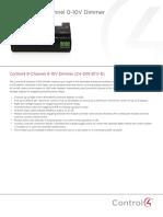 8 Channel 0 10v Dimmer Data Sheet Rev b
