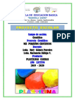 Proyecto Plastilina Casera Manuela Saenz