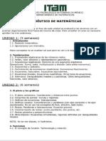 Temario Matemáticas ITAM