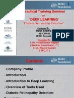 Internship presentation on deep learning