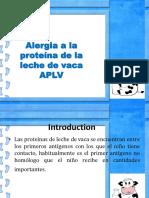 Alergia a la proteína de la leche de vaca APLV