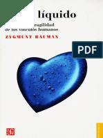 Amor Liquido Zygmunt Bauman PDF