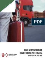Guia de Interpretacion Basica. Reglamento de Extranjeria