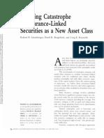 Assessing Catastrophe Reinsurance-Linked Securities as a New Asset Class