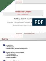 Fdocumente.com Interpolaredfsfsdfa Functiilor Metode de Interpolare Metoda Lagrange Metoda Newton