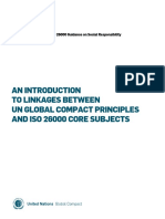 An introduction to linkages between UN Global Compact Principles and ISO 26000 Core subjects