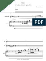Riccardo Barone - Trio Per Violino, Clarinetto e Pianoforte, pianof
