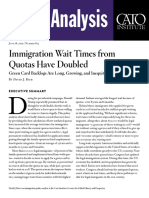 Immigration Wait Times from Quotas Have Doubled