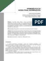 hermenêutica da norma penal incriminadora