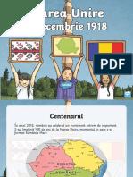 Marea Unire de La 1918 - Prezentare PowerPoint