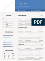 Corporate Blue Resume-WPS Office