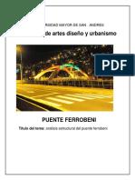 Analisis Puente Ferrobeni Bolivia