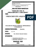PDF de Prescripción Adquisitiva