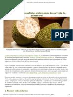 Jaca - Confira 6 Benefícios Nutricionais Dessa Fruta de Primavera