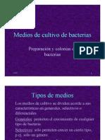 Medios de Cultivo de Bacterias