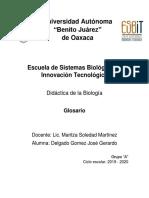 Glosario Didácticas en La Biología