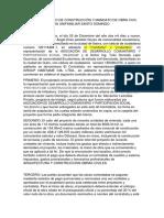Contrato de Construcción y Mandato de Obra Civil Proyecto Vivienda Milenium