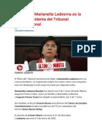 ¡Histórico! Marianella Ledesma es la nueva presidenta del Tribunal Constitucional