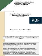 Organización y Competencia de Los Tribunales Agrarios en Venezuela