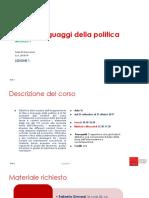 Idee e linguaggi della politica
