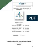 Aplicación de Herramientas Para La Planeacion de La Produccion