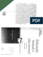 Livro A educação não-formal