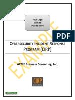 Example Cybersecurity Incident Response Program Cirp