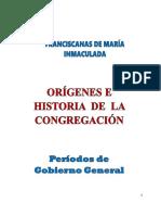 Historia Congregación a 1964 y Otros Sucesos