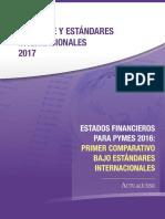 Iece 03 2017 Estados Financieros Para Pymes 2016 Primer Comparativo Bajo Estandares Internacionales
