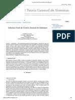 Proyecto Final Teoría General de Sistemas
