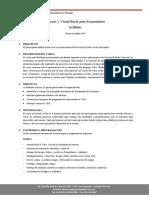 Syllabus Macros y Visual Basic Para Economistas