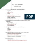 Soal Bahasa Indonesia Real (Klp 8-11)