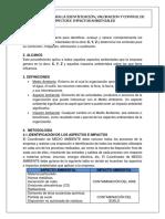 Procedimiento Para La Identificacion, Valoracion y Control de Aspectos e Impactos Ambientales Ejemplo 2