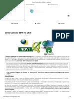 Como Calcular NDVI No QGIS – ClickGeo