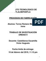 Trabajo de Investigación de Unidad II Tratamiento Térmico Del Acero.