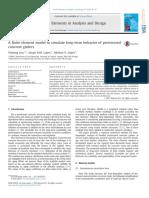 A Finite Element Model to Simulate Long-term Behavior of Prestressed Concrete Girder