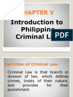 Introduction to Philippine Criminal Law