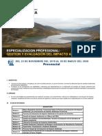 Especializacion EIA P Julio-Noviembre 2019