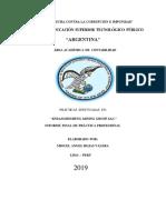 INFORME DE PRACTICAS PROFESIONALES ISTP ARGENTINA