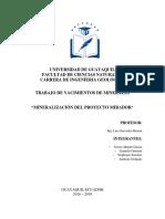 Mineralizacion Proyecto Mirador