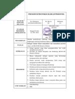 SPO Prosedur Proteksi Radiasi Personel