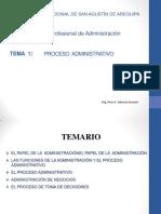 Tema 1 El Proceso Administrativo