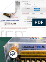 HJS-480-0-220 480W Switching Power Supply Instructions